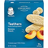 Gerber Teethers Gentle Teething Wafers - Banana Peach, 6 Count