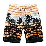 FANJUANMIN Mens Swing Shorts Plus Taille Maillots de Bain Baignade Pantalon Beach Pantalon Surf Maillot De Maillot De Maillot de Bain Quick Dry Boodshorts Silver (Color : Orange, Size : XL)