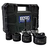 IBOSAD Manual Knockout Hole Punch Driver Kit 1/2',3/4',1',1-1/4' Electrical Conduit Hole Cutter Set KO Tool Kit,Can't Use for Stainless Steel Plate