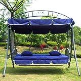 Hollywoodschaukel Gartenschaukel JL51-New Blau