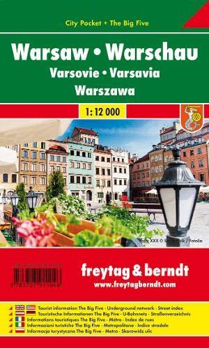 Varsovia 1:12.000 plano callejero plastificado. Freytag & Berndt.: Stadskaart 1:15 000 (Small city m