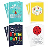 Hallmark Assorted Birthday Cards (Birthday Icons, 12 Cards and Envelopes), Happy Cake Day