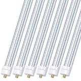 8FT LED Shop Light Bulbs, 8 Foot Led Tube for T8 T10 T12 Fluorescent Replacement, 90W 10000LM, 5000K, Single Pin FA8 V Shaped LED Bulb Light, Ballast Bypass, Dual-Ended Power(6Pack)