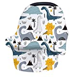 Nursing Cover Breastfeeding Cover, Stretchy Car Seat Covers for Babies,Soft Breathable Infant Carseat Canopy, Shopping Cart/High Chair/Stroller Covers, Baby Shower Gifts