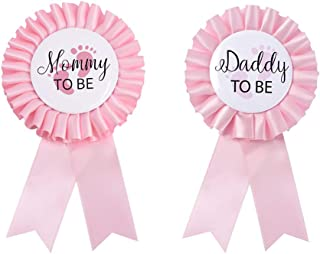 Daddy to be & Mom to be Tinplate Badge Pin – Baby Shower Button New Dad Gifts..