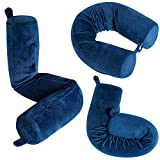 Dot&Dot Bendable Memory Foam Travel Pillow (One Size, Blue)