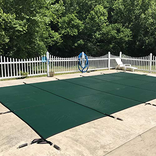 Pool Safety Cover for a 20 x 40 Pool, Green Mesh