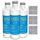 AQUACREST MDJ64844601 Refrigerator Water Filter, Compatible with LG LT1000P, LT1000PC, LT-1000PC MDJ64844601 and LT120F Combo 3 Pack