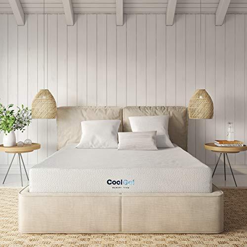 Classic Brands Cool Gel Ventilated Gel Memory Foam 8-Inch Mattress , Short Queen, White