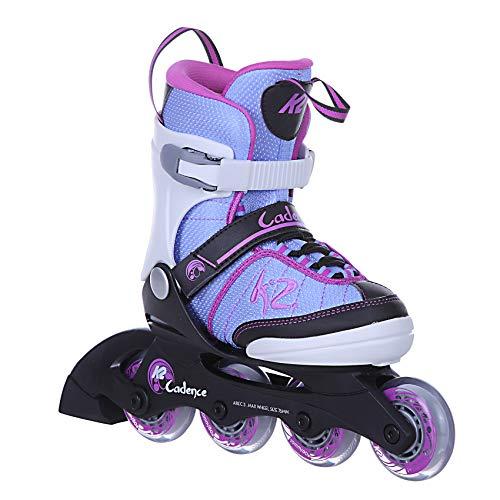 K2 Skates Mädchen Inline Skate Cadence Jr Girl — white - light blue - pink — L (EU: 35-40 / UK: 3-7 / US: 4-8) — 30C0350