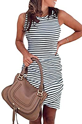 You Will Never Regret To Get One - The Womens Summer Dresses Adopts High Quality Cotton Blend Outer Fabric, Soft And Breathable,Will Offer You First-Class Comfort; With The Same Color Lining, Makes Sure Will Not See Through; The Comfy And Stretchy Ma...