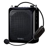 Wireless Voice Amplifier with microphone headset, 25W Echo Sound System Portable Voice amplification with Mic, 2000mAh Rechargeable Mic Speaker for Teachers/Tourist Guide/Classroom/Elderly