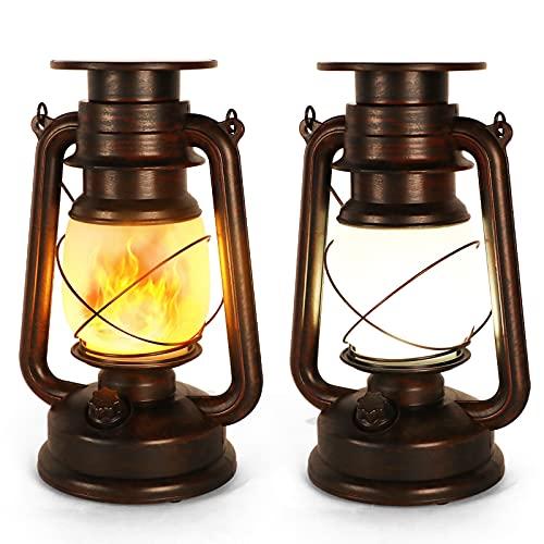 Lanterne Solaire Extérieure, 2 Pièces Lampe Tempete Solaire, Lanterne...