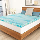 POLAR SLEEP Mattress Topper Queen, 3 Inch Gel Swirl Memory Foam Mattress Topper with Ventilated Design - Queen Size