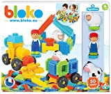 BLOKO – 503592 – Coffret de 50 'BLOKO' avec 3 figurines 3D de la Ferme – Dès 12 mois – Fabriqué en EUROPE – Jouet de construction