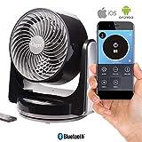 Ozeri Brezza III Dual Oscillating 10' High Velocity Desk Fan with Bluetooth Technology