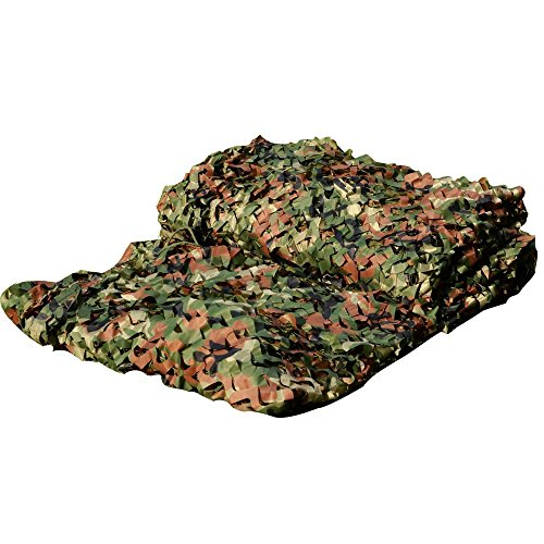 LOOGU Custom Woodland Camo Netting Camping Military Hunting Camouflage Net (150D Polyester, 7x26ft)