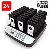 NOLAS Corum Restaurant Call Coaster Pagers/Guest Waiting Pager/Wireless Paging System with Charging Dock and Transmitter (Available in 10/16/24/32/48/64/80/96 Units (Pager24)