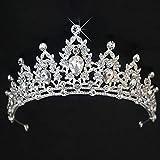 SELUXU Strass Cristal Mariage diadème Couronne Peigne Princesse Pageant...