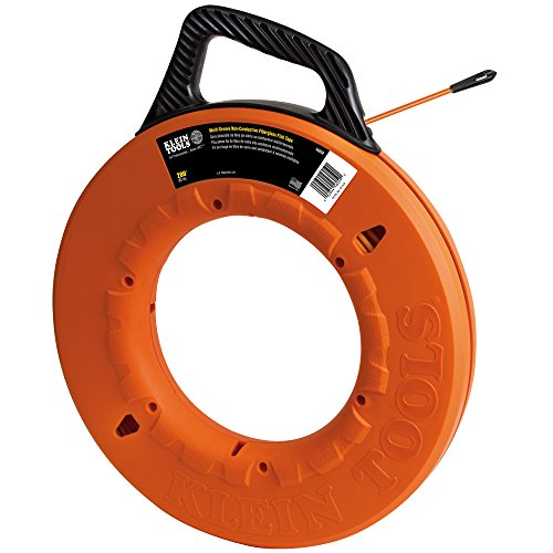 Klein Tools 56059 Fiberglass Fish Tape, 200-Foot Wall Snake is 3/16-Inch...
