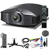 Sony Home Theater Projector VPL-HW45ES: 1080P Full HD Video Projector for TV, Movies and Gaming - 3D Compatible - with Mount + Power Strip + HDMI Cable + Cleaning Set + Wire Ties and More - Bundle