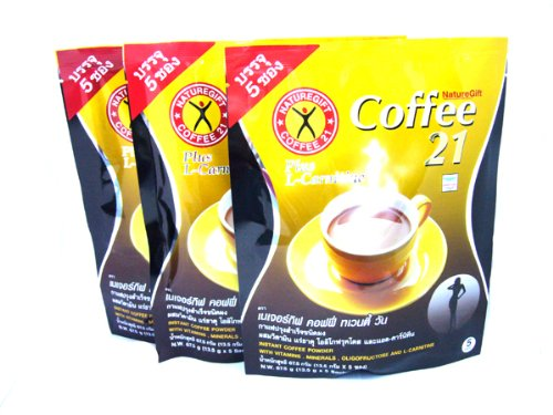 3x Naturegift Instant Coffee Mix 21 Plus L-carnitine Slimming Weight Loss Diet Made in Thailand 1 - My Weight Loss Today