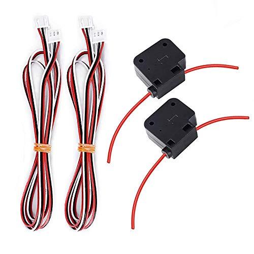 Protomont 2 Pcs 3D Printer Detection Module 1.75mm Filaments Detect Module Monitor Sensor Switch Run Out Pause Monitor