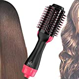 Professional Hot Air Brush,Baodanfirst Hair Dryer and Volumizer with Comb Straightener Curler, Salon Negative Ion Ceramic Electric Blow Spin Dryer Rotating Brush for All Women Hair Types