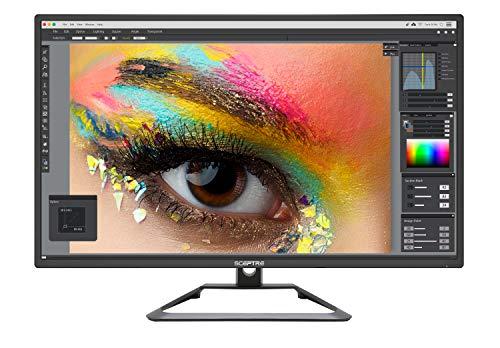Sceptre IPS 27' 4K UHD LED Monitor up to 75Hz DIsplayPort HDMI DVI Build-in Speakers, Frameless Machine Black 2020 (U279W-4000R)