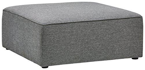 Marchio Amazon -Rivet, ottomana moderna modello Audrey, 100 cm, colore grigio tempesta