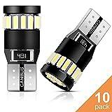 Anpro 10PCS T10 LED Ampoules de Voiture 21 LEDs 6000K Lumière Blanc...