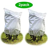 2Pack The thickest 2.5oz/yd² Plant Cover for Plants Frost Protection 36' 44' Warm Worth Plant Protection Cover Bags Shrubs Trees Jacket Protecting Fruit Trees Potted Plants