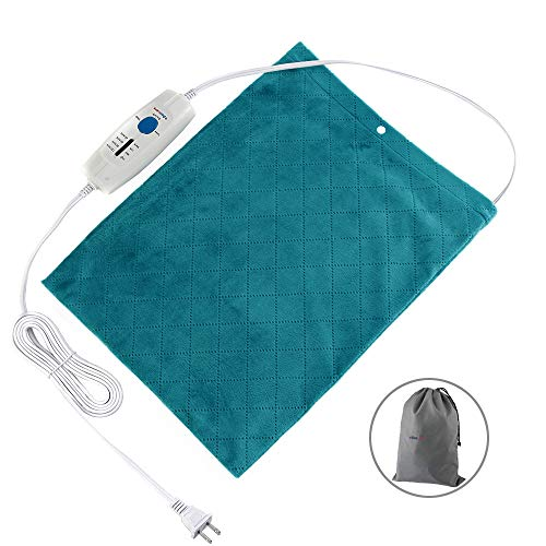 """Boncare 12"""" x 15"""" Large Heating Pad for Back Pain Neck and Shoulders Fast Relief, Moist Heat Therapy Option, 4 Temperature Settings and Auto Shut Off, Storage Bag and Super Soft Velvet Fabric Cover"""
