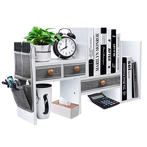 X-cosrack Wood Expandable Desktop Bookshelf Counter Bookcase...