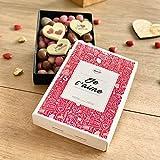 CHOCOLAT SAINT VALENTIN 'Je t'aime mon amour' - COFFRET LISEA MM - CHOCOLAT ARTISANAL 165g - COFFRET CADEAU CHOCOLAT ST VALENTIN