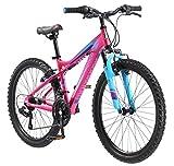 Mongoose Silva Mountain Bike, For Women and Girls, 24-Inch Wheels, Pink