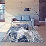 Luxe Weavers Modern Area Rugs for Living Rooms. Persian Area Rugs with Abstract Pattern. Super Soft and Perfect for Hardwood Floors., Stain Resistant - Blue / 5' x 7'