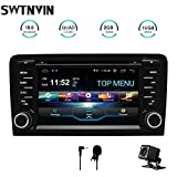 SWTNVIN Autoradio stéréo Android 10.0 pour Audi A3 Lecteur DVD Radio 7' Écran Tactile HD Navigation GPS avec Bluetooth WiFi Commande au Volant 2 Go + 16 Go