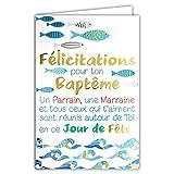 Afie - Tarjeta de felicitaciones para tu bautizo padrino o madrina, día de...