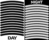 14pcs High Visibility Warning Reflective Stripes Rim Stickers Bike Bicycle Kit Decals Black Reflector Highly Night Safety Sign Visibility Universal Self - Adhesive D 54