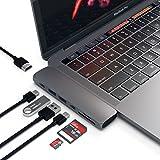 Satechi Type-C アルミニウム Proハブ (スペースグレイ) Macbook Pro 13/15インチ対応 40Gbs Thunderbolt 3 4K HDMI Micro/SDカード USB 3.0ポート×2 マルチ USB ハブ
