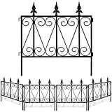Amagabeli Garden Fence Rustproof Metal Wire Fencing 24inx10ft Outdoor Landscape Decorative Border...