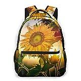 IUBBKI Sunflower Nature Mochilas Unisex con Correas de Hombro Acolchadas Ajustables Mochila Informal