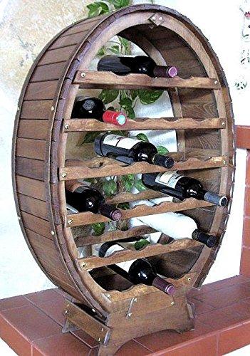 DanDiBo Scaffale Vini Botte-Vino per 24 Bottiglie verniciatura Marrone Bar Supporto Bottiglie Botte...