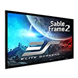 Elite Screens Sable Frame 2 Series, 135-inch Diagonal 16:9, Active 3D 4K Ultra HD Ready Fixed Frame Home Theater Projection Projector Screen, ER135WH2