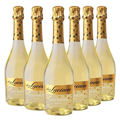 Don Luciano Gold Moscato - Charmat Moscato Blanco, Caja de 6 Botellas x 750 ml