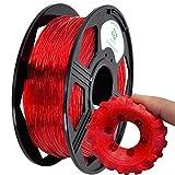 YOYI YOYI 3D Printer Filament,85A TPU Filament 1.75mm,Flexible Filament, 0.8KG Spool,Dimensional Accuracy +/- 0.02 mm,100% Virgin Raw Material (Red)