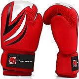 Sportstech Boxhandschuhe aus strapazierfähigem PU-Leder für Kinder mit doppelter Qualitätsnaht |Perfekter...