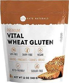 Sponsored Ad - Premium Vital Wheat Gluten - Kate Naturals. High Protein, Low Carb, Vegan, Non GMO. Fresh. Perfect for Keto...