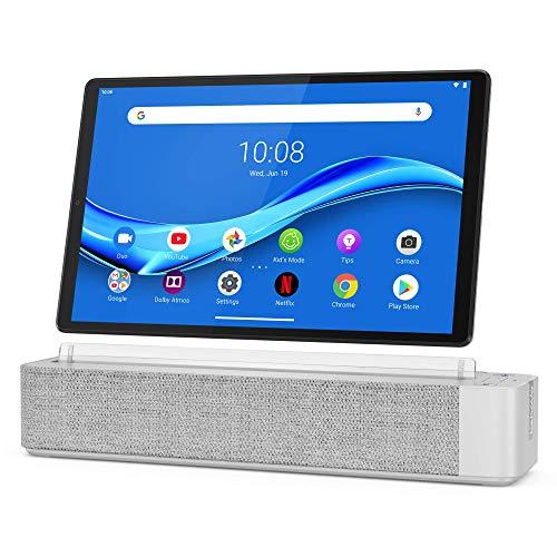 Lenovo Smart Tab M10 Plus, FHD 10.3' Android Tablet, Alexa-Enabled Smart Device, Octa-Core Processor, 64GB Storage, 4GB RAM, WiFi, Bluetooth, ZA6M0013US, Platinum Grey